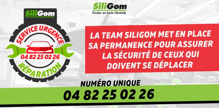 Service urgence réparation SiliGom : 04 82 25 02 26