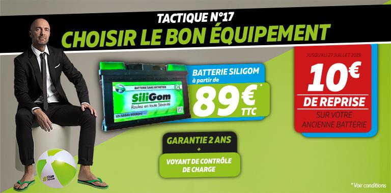 Votre batterie SILIGOM à partir de 89€
