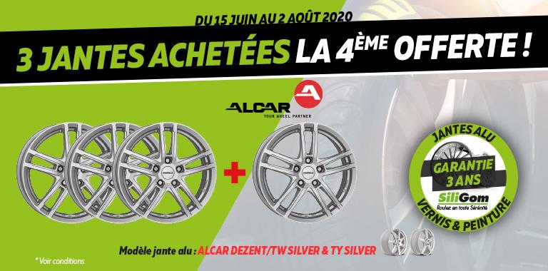 3 JANTES ALCAR ACHETÉES LA 4ème EST OFFERTE !