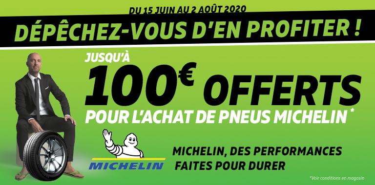 100€ OFFERTS AVEC MICHELIN !