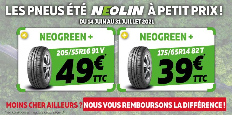 vos pneus été néolin à partir de 39€