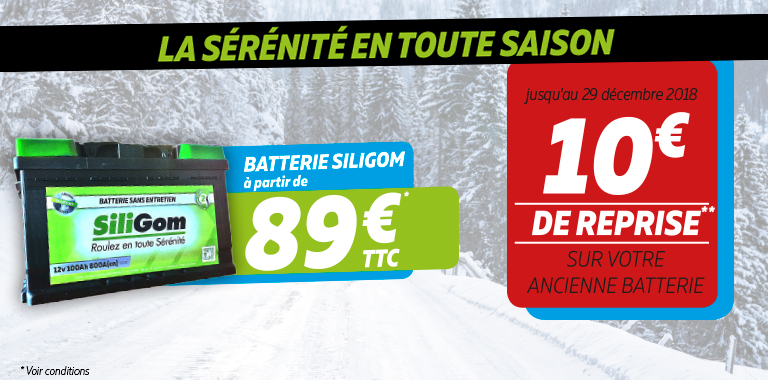 la batterie Siligom pour votre voiture à partir de 89€