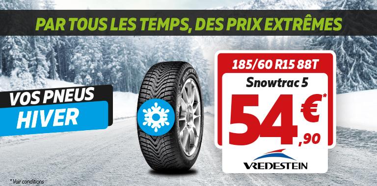 Promotion sur les pneus hiver SNOWTRAC5 de Vredestein !