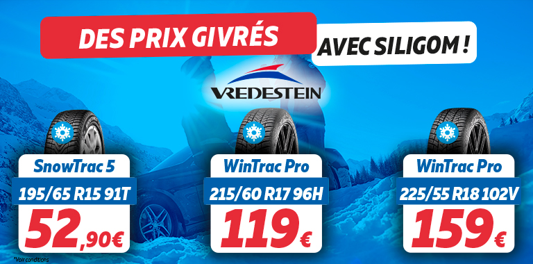 PROMOTION VREDESTEIN HIVER 2019