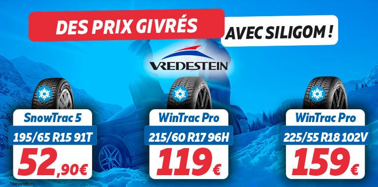 vos pneus 4 saisons Vredestein aux meilleurs prix chez Siligom
