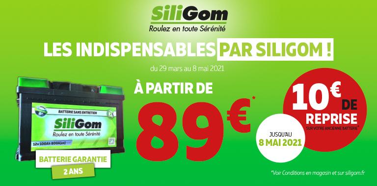 Votre Batterie SiliGom à partir de 89€ !