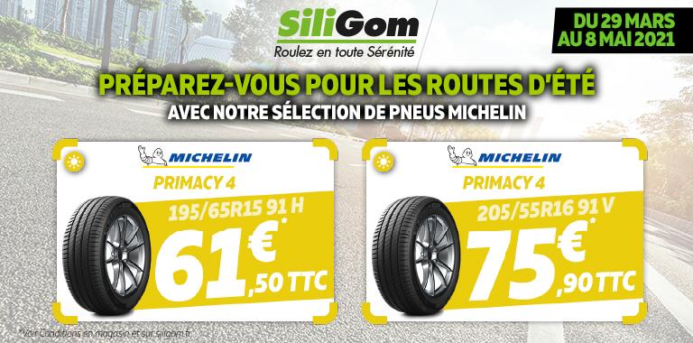 Vos pneus Michelin à partir de 61,50 € !