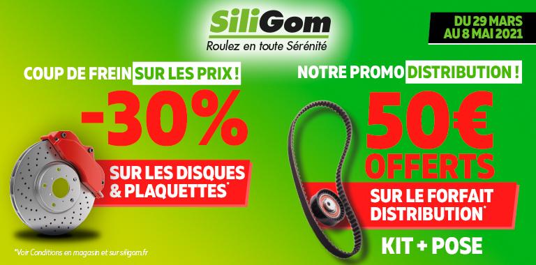-30% sur le forfait freinage & 50€ offerts sur le forfait distribution