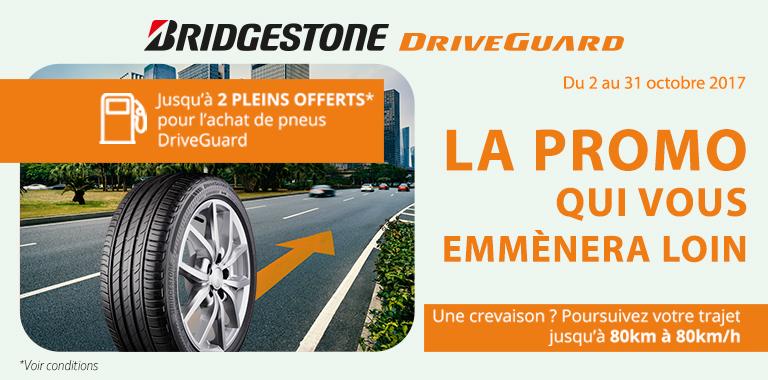 promotion pneus driveguard bridgestone chez siligom