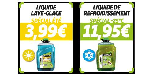 votre liquide lave glace à 3,99€ chez siligom