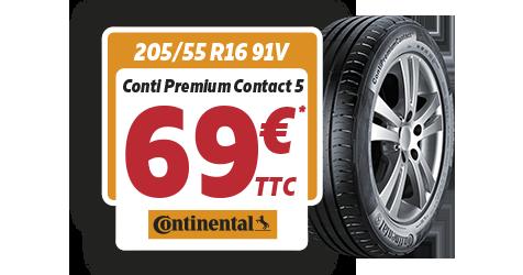 promotion continental chez Siligom : Conti Premium Contact 5 à 69€