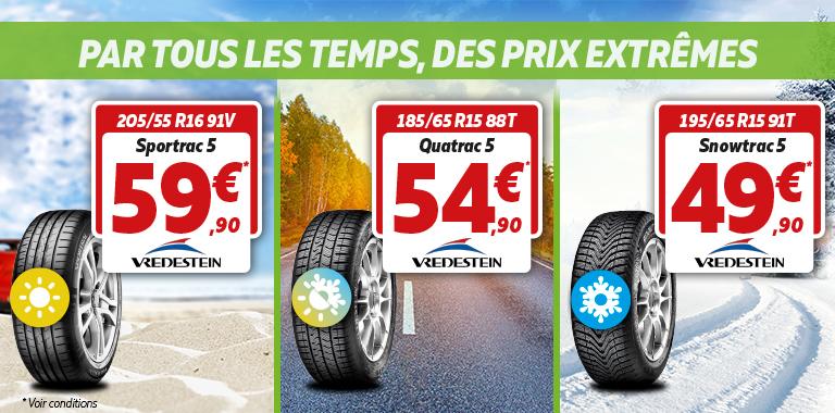 Promotion sur les pneus vredestein chez siligom