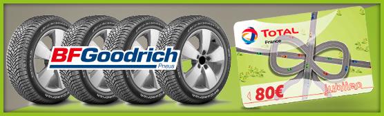 80 euros offerts pour l'achat de pneus BFGoodrich