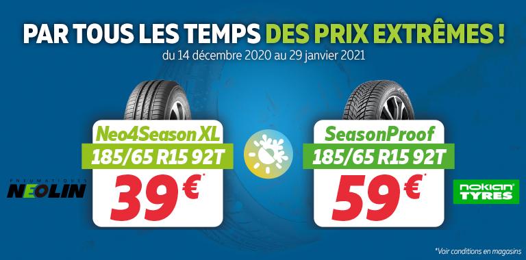vos pneus 4 saisons à partir de 39€ chez SilIGom