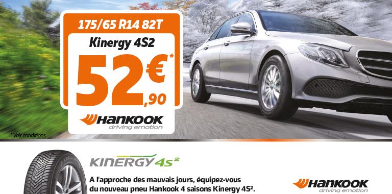 hankook kinergy 4s2 175/65 r14 82 t à 52,90€ chez siligom