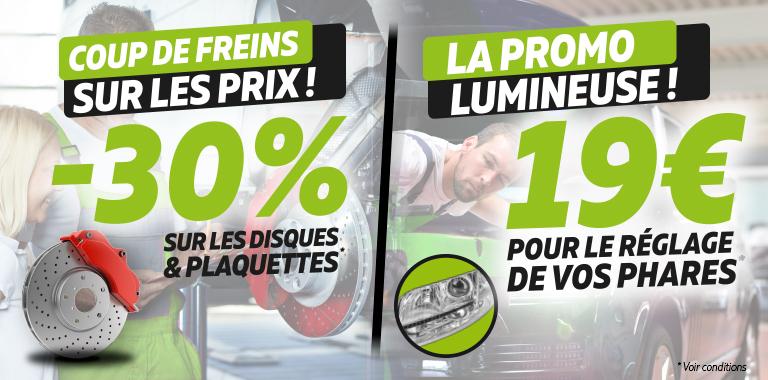 -30% sur le freinage reglage des phares à 19€ chez siligom